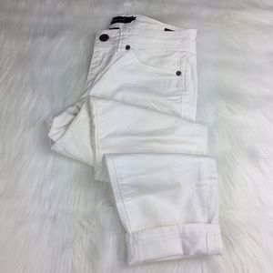 Calvin Klein Jeans Skinny Cropped White Jeans